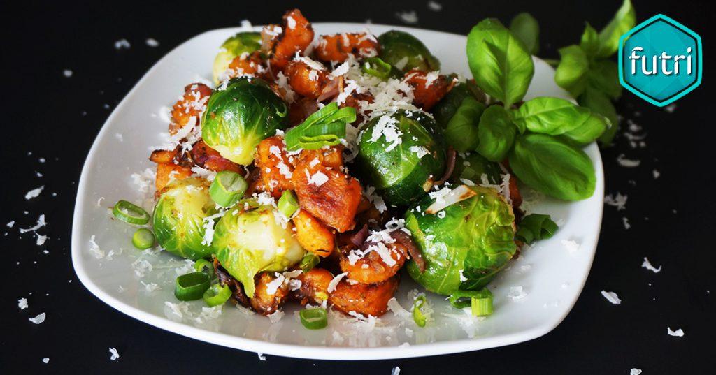 Rezept Rosenkohl Süßkartoffel Pfanne