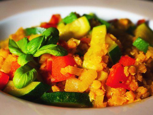 Rezept vegetarisch linsen curry kokosmilch